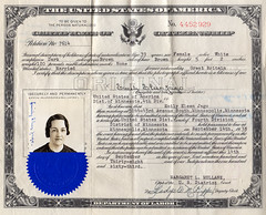 Certificate of Citizenship, USA, for Emily Eleen Jago issued 9/14/1938 (avatarsound) Tags: family usa minnesota official unitedstatesofamerica minneapolis certificate document citizenship citizen legal jago naturalization certificateofcitizenship