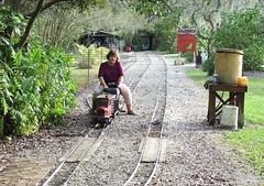 Last to run (clarkfred33) Tags: hobby telephoto modelrailroad modeltruck railroadyard railtruck railroadhobby railroadscene railroadadventure 712gauge livesteamrailroad manateecentral