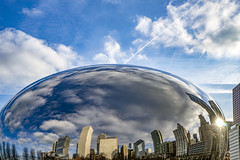 Feel the Bern Bean - January 23, 2016 (Flipped Out) Tags: chicago millenniumpark northface cloudgate thebean anishkapoor