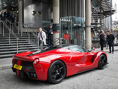 Ferrari LaFerrari parked outside Lloyd's of London (ho_hokus) Tags: uk england london car entrance ferrari supercar lloyds limestreet sportscar lloydsoflondon 2016 hypercar fujix20 fujifilmx20 ferrarilaferrari