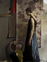 A Forest. Oil on linen, 2013 // by Diarmuid Kelley (mike catalonian) Tags: portrait female painting fulllength 2013 2010s darmuidkelley