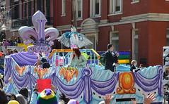 Winged Captain of the Krewe of Iris (Monceau) Tags: colorful parade mardigras kreweofiris
