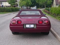 1993 Chevrolet Corvette (crusaderstgeorge) Tags: cars chevrolet sweden gvle 1993 sverige corvette classiccars americancars redcars americanclassiccars 1993chevroletcorvette americancarsinsweden