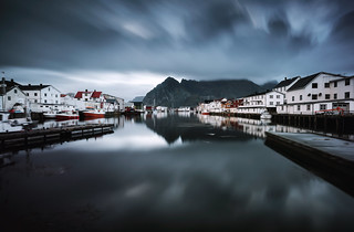 Henningsvaer Harbour