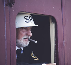 'Cigar' (EXPLORE) (Timster1973 - thanks for the 11 million views!) Tags: old greatbritain people color colour southwales wales train canon vintage photo tim unitedkingdom candid rail railway trains cigar nostalgia 1940s nostalgic welsh 70200 reenactment steamrailway 40s blaenavon canon70200mm wareffort timknifton timster1973 knifton 1940sreenactmentday