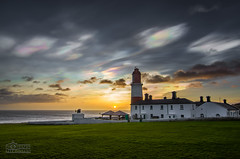 Rainbow Clouds at Souter Lighthouse (solidtext) Tags: lighthouse clouds sunrise rainbow southshields nacreous souter stratospheric stratopheric
