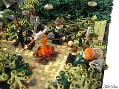 Making Camp (2 of 6) (Emil Lidé) Tags: tree lego campfire darby sir goh moc kipp harlon