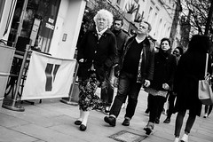 Grand Mother (Paul David Price) Tags: old people woman white man black guy london lady walking young saturday february streetphotograph