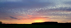 Heading homewards (SteveJM2009) Tags: uk trees light sunset sun colour clouds evening countryside silhouettes february wiltshire stevemaskell downton 2016 wilts naturethroughthelens