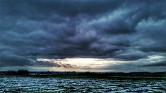 It's still winter here (Oliver Kuehne) Tags: winter snow clouds germany bayern bavaria dusk hiver memmingen