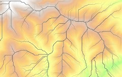 angus least-cost-path (stevefaeembra) Tags: scotland angus path cost cartography least qgis