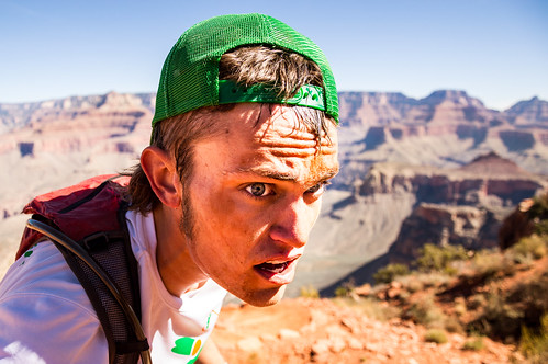 Self portrait while running South Kaibab trail