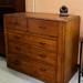 Chest drawers dark wood