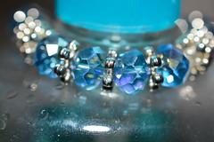Jewelry (thomas.hartmann496) Tags: blue light glass silver photo shiny aqua unitedstates bokeh pennsylvania band fake jewelry sparkle clear translucent wrist milford transparent jewels sparkly wristband flashy glint jewel