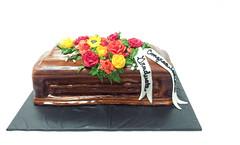 Graduation Cake (tasteoflovebakery) Tags: flowers floral cake graduation casket graduate coffin congratulations congrats