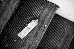 DSC_3804.jpg (tannersilva) Tags: abandoned monochrome hospital stair tube crest step toothpaste