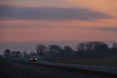 Pale morning on the Countryside (Infomastern) Tags: road morning sky car sunrise landscape dawn countryside himmel bil soluppgng vg morgon landskap sdersltt landsbygd gryning