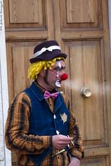 """""""Che fai fumi!? ma allora sei scemo!! ...."""" (G@Bon@z) Tags: clown fumo sigaretta fano"""