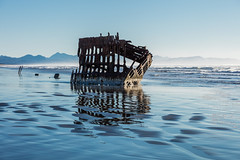 2016-01-10 - Peter Iredale Shipwreck-24 (www.bazpics.com) Tags: ocean sea usa beach water oregon america skeleton sand ship pacific or wave peter shipwreck frame hull wreck iredale