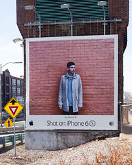 iPhone Man (Marc Bloostein) Tags: boston massachusetts newburystreet billboard masspike