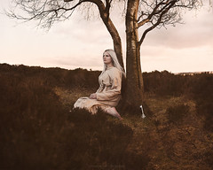 Change (Manadh) Tags: portrait england woman tree girl danger dark landscape fire key alone pentax heather derbyshire smoke sheffield fineart sigma flame barefoot barefeet asleep conceptual moor k3 1835mm moorlang manadh