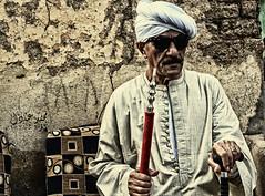 Godfather (herzallah94) Tags: travel man glasses egypt traveling luxor godfather els3ed