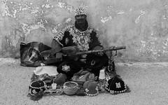 Legnawi (B&W) (A.B.S Graph) Tags: ocean music sun mer nid surf tour body sale maroc chateau poisson oiseau peche rabat planche regard canne gnawa pensif salé oudaia oudaya sacrée gnawi