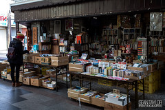 Bookstore (seantaylorphotography) Tags: street dusty japan shop canon shopping japanese book store treasure antique bookstore 5d dust bookshop nagano browsing browse gondo 5d2 5dmk2 gondostreet gondoshoppingstreet