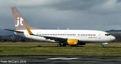 OY-JTT B737 Glasgow March 2016 (pmccann54) Tags: boeing airways oyjtt 737700jettime