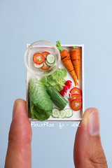 Miniature Salad (PetitPlat - Stephanie Kilgast) Tags: sculpture art fruits fruit miniatures miniature handmade vegetable polymerclay fimo veggie foodart dollhouse realism miniaturefood oneinchscale 1to12