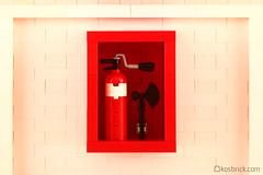 Fire Extinguisher (kosbrick) Tags: lego fireextinguisher moc npu paintroller ironbuilder