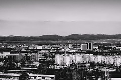 A beautiful architecture landscape of the capital of Bulgaria, Sofia. (simeonvladimirov) Tags: city blackandwhite architecture landscape town sofia bulgaria ghosttown apocalyptic