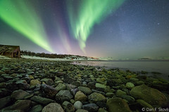 Nothern lights over the sea. (Dan F Skovli) Tags: visipix