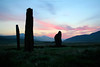 Morning on Machrie moor (Premysl Fojtu) Tags: uk morning pink sky nature beautiful grass stone clouds rural canon landscape island eos 350d dawn scotland countryside twilight standingstones country land tall dslr moor isle arran breathtaking stonecircle goatfell ayrshire machrie