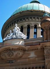 Aus131 - Queen Victoria Building, Sydney (Donna's View) Tags: facade nikon sydney australia dome queenvictoriabuilding d60