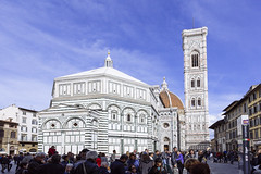 a glimpse of spring (Francesco Cambria) Tags: sky florence spring cathedral firenze duomo brunelleschi giotto
