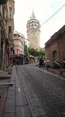 Galata Tower #istanbul (gultekin.cangul) Tags: street trip ramp strada torre istanbul follow destination estambul kaldrm galata kule yoku