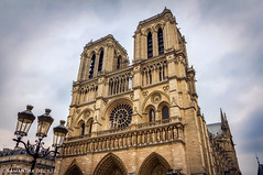 An Overcast Day at Notre Dame (Samantha Decker) Tags: paris france church europe ledefrance cathedral notredame hdr ledelacit canonefs1755mmf28isusm samanthadecker canoneos550d canoneosrebelt2i adobephotoshopcs6