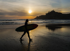 Surfer in the Sun (Brian Feutz) Tags: oregon surfer