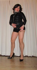 tight black top, hotpants and nyloned legs in black pumps (Barb78ara) Tags: pumps stilettoheels pantyhose nylon blacktop hotpants animalprint shinypantyhose shinynylon highheelpumps leatherlook stilettopumps leatherhotpants stilettohighheels animalprintblacktop