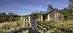 Cattle Shed No. 2 (Michael Bartoshevich) Tags: building canon fence landscape cattle sundown outdoor farm hill shed newengland structure 5d sunsetting electricfence gibbet 5dmarkiii