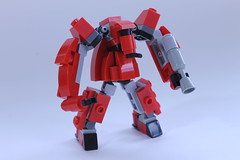 The Red Menace (BigDamnHero2511) Tags: lego robots mecha moc microscale miniscale minirobot