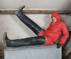 www.fetish-memoirs.com 9 (HellsBellis4u) Tags: highheels rubber plastic riding gloves gasmask wellies waders rainwear pvc hunters raingear hoods souwester sbr rainsuits rukka rainbonnets swimhats
