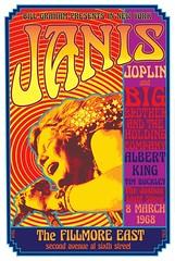 Janis Joplin (1968) concert poster (KlaatuCarpenter) Tags: concertposter janisjoplin billgraham fillmoreeast davidedwardbyrd