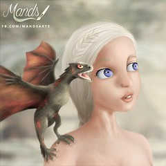 Daenerys Targaryen  (Mands Arts) Tags: snow game love by jon steps arts step series got mands srie hbo serie thrones stepbystep  daenerys passo khaleesi sries jonsnow gameofthrones khal passoapasso targaryen daenerystargaryen mandsarts