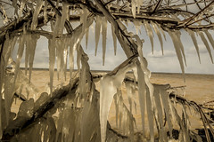 Winters Deep Freeze (KennyG-String) Tags: longexposure cold ice beach marina landscape waves naturallight lakeontario midday stcatherines portdalhousie niagararegion