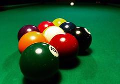 9-Ball #billiards (robsotophotography) Tags: green sport blackbackground ball indoor billiards poolcue