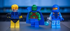 [Lego DC] Booster and Beetle take J'onn's Chocos (Jonathan Wong Photography) Tags: blue ted comics gold justice dc lego beetle best international prank superheroes custom junkie booster league martian chocos kord manhunter minifigures bromance purist