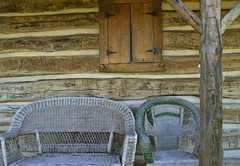 Have a Seat (MalaneyStuff) Tags: wood usa history museum wisconsin lens nikon kit wicker caledonia racine caledoniawi d5100