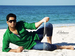 It's me (hisalman) Tags: blue sea sky male green beach water fashion model sand dubai style jumeirah
